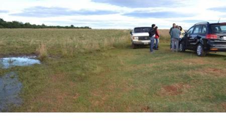 Reconocimiento del terreno de la futura planta de tratamientos de residuos