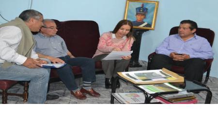 El Defensor de los Vecinos Miguel Gómez acompaño a la Licenciada Ingrid Jetter  en la visita oficial que hizo en Saladas