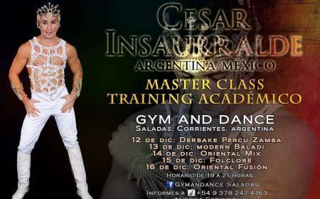 Master Clas Training Académico de César Insaurralde en Gym & Dance Saladas