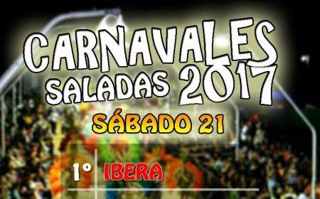 Este sábado 21 inicia el Carnaval de Saladas 2017